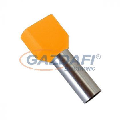 ELMARK szigetelt dupla érvéghüvely, narancs, 2x4mm2, 10mm, TE4010, 100db/csomag