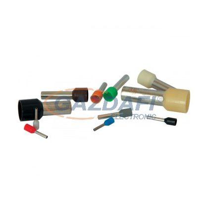 ELMARK szigetelt érvéghüvely, sötétzöld, 10mm2, 18mm, Е10-18, 100db/csomag