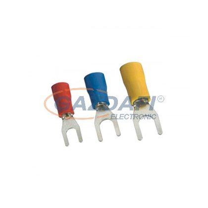 ELMARK szigetelt, ónozott réz villás saru, SVS1.25-4, 0.5-1mm2, piros, 100db/csomag