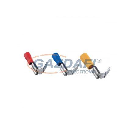 ELMARK szigetelt rátolható csatlakozó csap hüvellyel, sárga, 4.0-6.0mm2, PBDD 5.5-250, 100db/csomag