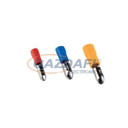 ELMARK szigetelt hengeres csatlakozó dugó, piros, 0.25-1.0mm2, MPD 1.25-156, 100db/csomag