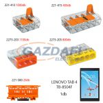 WAGO Set 2 Compact és univerzális vezeték összekötők + Lenovo Tab 4 TB-8504F tablet ZA2B0059BG