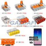 WAGO Set 3 Compact és univerzális vezeték összekötők + Samsung Galaxy A8 okostelefon
