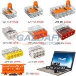 WAGO Set 5 Compact és univerzális vezeték összekötők + Asus X540LA-XX988T laptop