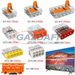 WAGO Set 6 Compact és univerzális vezeték összekötők + Samsung UE 43 NU7122KXXH 4K UHD Smart LED televízió