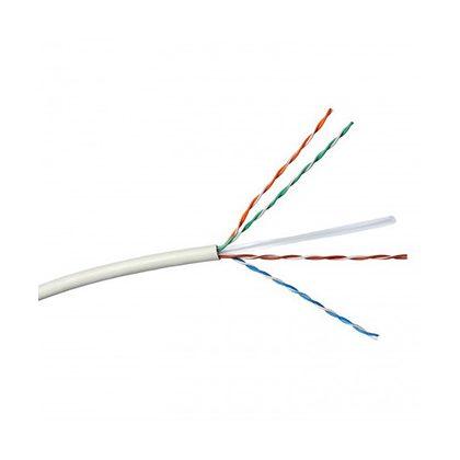 LEGRAND 632724 fali kábel réz Cat6 árnyékolatlan (U/UTP) 4 érpár (AWG23) PVC fehér Eca 305m-kartondoboz Linkeo