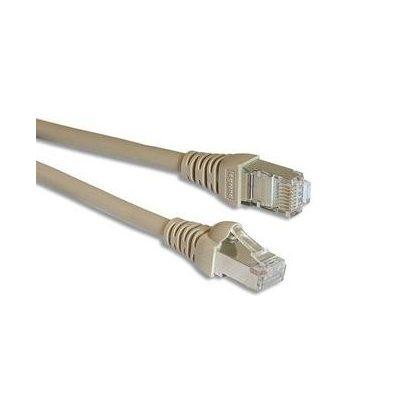 LEGRAND 632741 patch kábel RJ45-RJ45 Cat5e árnyékolt (F/UTP) PVC 2 méter világos barna d: 6mm AWG26 Linkeo