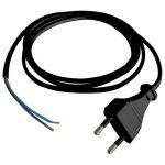 """GAO 6778H csatlakozóvezeték """"MTL"""" euró dugóval, 1,5m H03VVH2-F, 6A, 2300W, 2x0,75mm2, fekete, 230V"""