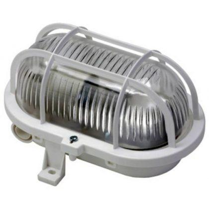 GAO 6915H Hajólámpa, ovális, műanyagráccsal 60W, fehér