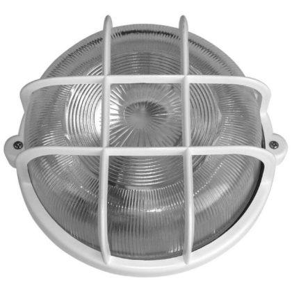 GAO 6927H műanyag rácsos hajólámpa, fehér, 230V, E27, 100W, IP44