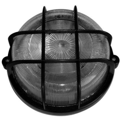 GAO 6928H Hajólámpa, kerek, műanyagráccsal 100W, fekete