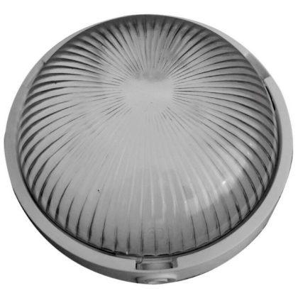 """GAO 6931H """"Standard"""" lámpatest, E27, 100W, fehér/opál, 230V, d=232mm, h=80mm, oldalsó és hátsó bekötésű, IP44"""