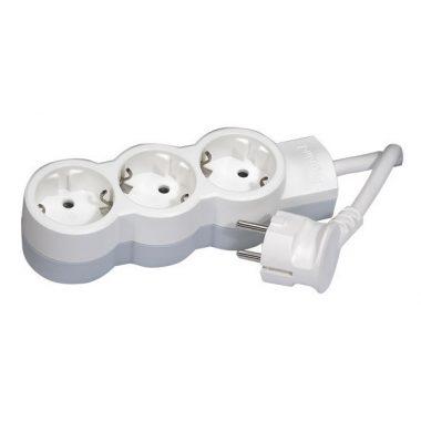 LEGRAND 695002 3x2P+F elosztósor ST, 3m vezetékkel, fehér-szürke
