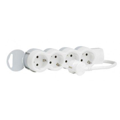 LEGRAND 695008 4x2P+F elosztósor ST, 5m vezetékkel, fehér-szürke