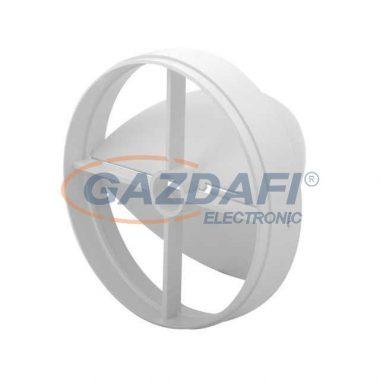 KANLUX ventilátor pillangószelep csőventilátorhoz, d=120mm, fehér, műanyag, 100x100x21mm