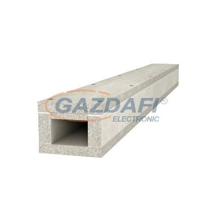OBO 7214700 BSKP 0406 Tűzvédelmi Csatorna I30 napelemes rendszerekhez 40x60x1000mm szürke beton