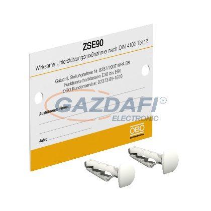 OBO 7215750 KS-ZSE DE Jelölőtábla húzásmentesítéshez PVC