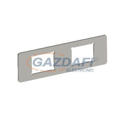 OBO 7408705 MPMT45 2C Szerelőlemez 2 db C típusú kivágáshoz 77x24x1,5mm rozsdamentes acél