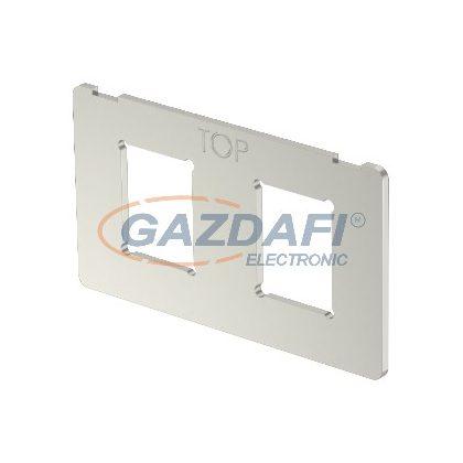OBO 7408717 MPK 2C Szerelőlap 2 db C típusú kivágással 63x36x1,5mm rozsdamentes acél