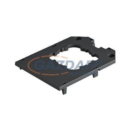 OBO 7408783 UT34 D1 Fedlap UT34-hez, 1 db tartókeretes készülék részére 104x76x4mm grafitszürke poliamid