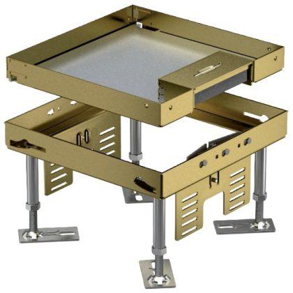 OBO 7409204 RKSN2 4 MS 25 Négyzetes Kazetta kábelkivezetéssel 200x200mm sárgaréz