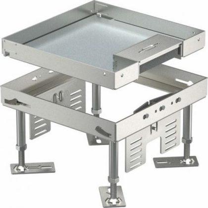OBO 7409208 RKSN2 4 VS 20 Négyzetes Kazetta kábelkivezetéssel 200x200mm rozsdamentes acél