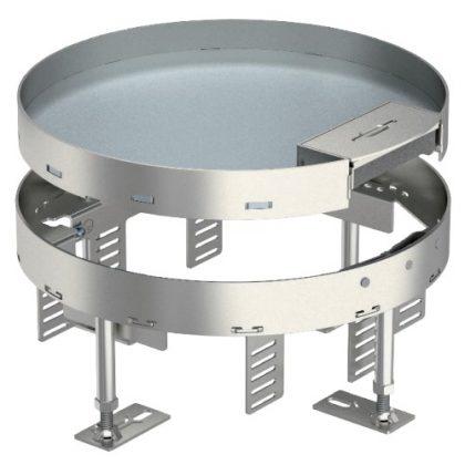 OBO 7409270 RKS2 R7 V25 Kerek Kazetta kábelkivezetéssel ø 275mm rozsdamentes acél