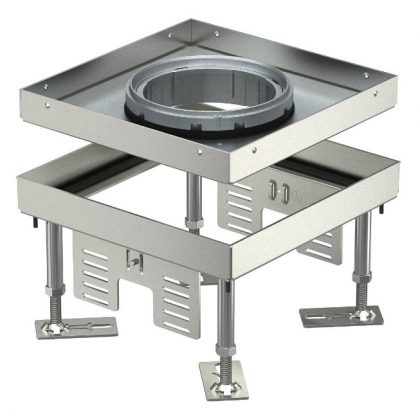 OBO 7409364 RKFN2 4 VS 25 Négyzetes Kazetta tubushoz 200x200mm rozsdamentes acél