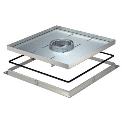 OBO 7409506 RKF2 SL1 V3 30 Nagyteherbírású Keretes Kazetta tubushoz 383x383x30mm rozsdamentes acél