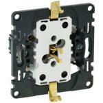 LEGRAND 753026 Valena InMatic 2x2P+F csatlakozóaljzat gyermekvédelemmel, rugós vezetékbekötéssel