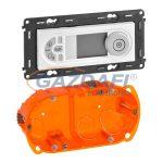 LEGRAND 755339 Valena Allure Programozható termosztát, burkolattal, Gyöngyház