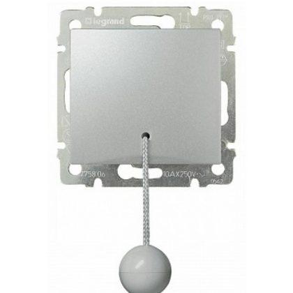 LEGRAND 770119 Valena húzózsinóros váltóérintkezős nyomó, alumínium
