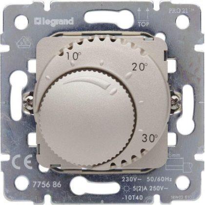 LEGRAND 775686 Galea Life standard szobatermosztát mechanizmus, titánium