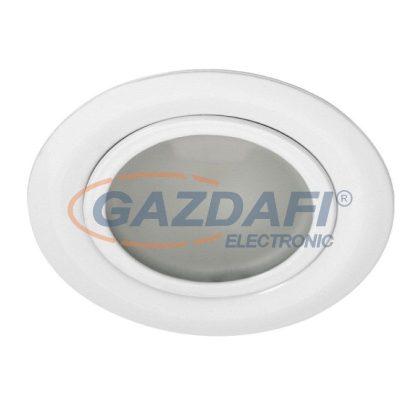 KANLUX süllyesztett spot lámpatest, JC, G4, 20W, fehér, IP20, acél, üveg