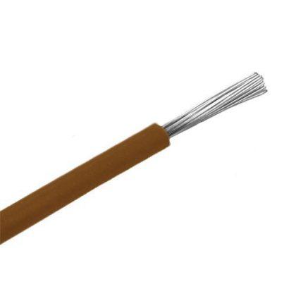 SiF 1x0,5mm2 Hőálló szilikon vezeték 300/500V barna