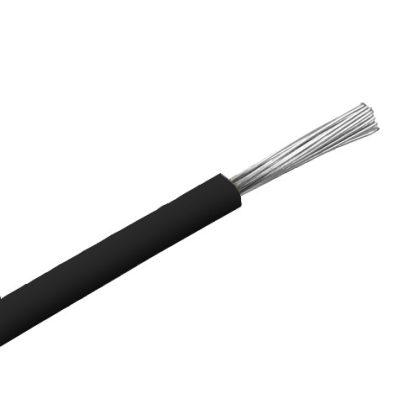 SiF 1x0,5mm2 Hőálló szilikon vezeték 300/500V fekete