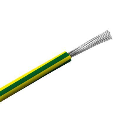 SiF 1x0,5mm2 Hőálló szilikon vezeték 300/500V zöld/sárga