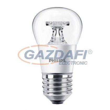 PHILIPS CorePro 871869650767400 LED luster ND kisgömb fényforrás, 4W, E27, P45, 2700K, 250Lm, 827, átlátszó búra