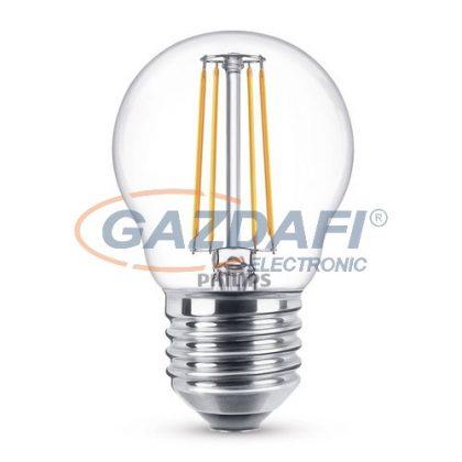 PHILIPS 871869658733100 LED fényforrás, classic 4.3W E27 WW P45 CL ND RF 1BC