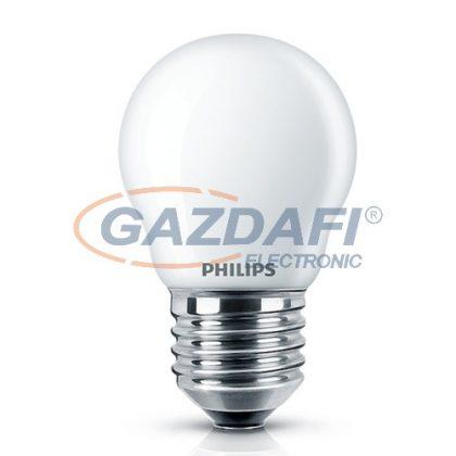 PHILIPS 871869670647300 LED luster P45, filament, E27, 4W, LED fényforrás, 470Lm, 230V, 2700K, kisgömb, opál búra