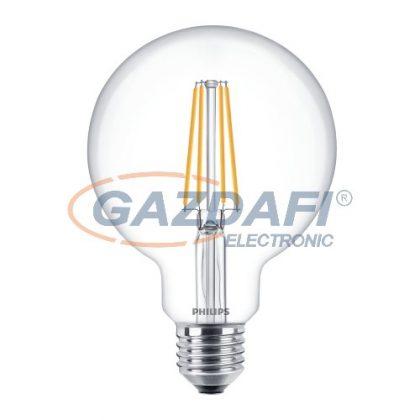 PHILIPS 871869674271600LED globe nagygömb fényforrás, filament, 7W, E27, G93, 2700K, 806Lm, 827, átlátszó búra