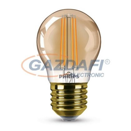 PHILIPS 871869681411600 LED fényforrás, classic 5W P45 E27 2200K GOLD SRT4