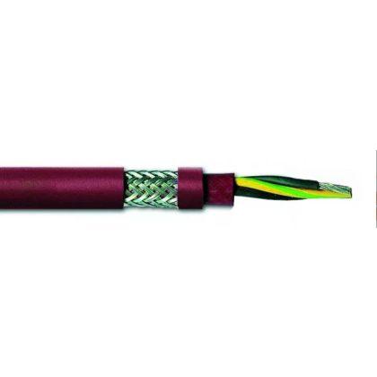 SiHFCuSi-J 3x1mm2 Árnyékolt hőálló zsinórvezeték 300/500V vörös/barna