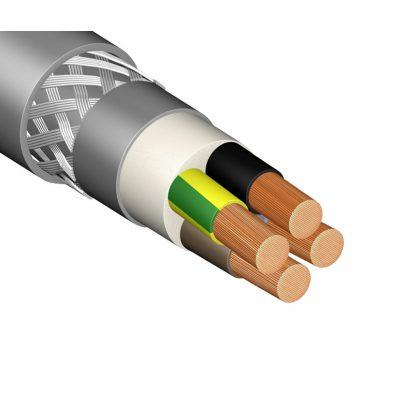 SLCM 4x2,5mm2 Árnyékolt motorbekötő kábel, PVC 0,6/1kV szürke