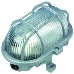 GAO 90047 Hajólámpa, ovális, műanyagráccsal 60W, szürke