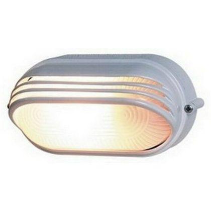 GAO 90056 Hajólámpa, ovális, félig fedett, alumíniumráccsal 60W, fehér