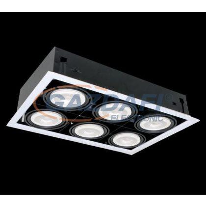 ELMARK QUAD612 Süllyesztett LED lámpa 12W 6XE27 4000K sötétszürke