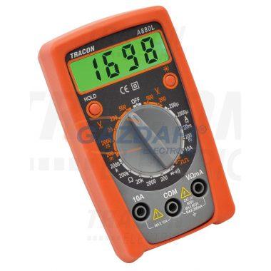 TRACON A880L Digitális multiméter DCV,ACV,DCA,OHM,diode check,signal