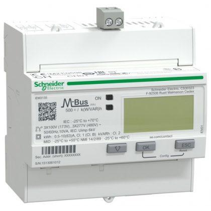 SCHNEIDER A9MEM3135 Digitális fogyasztásmérő,3F,63A,M-Bus,MID