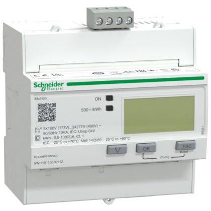 SCHNEIDER A9MEM3150 Digitális fogyasztásmérő,3F,63A,MODBUS